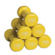 Vinyl Coated Dumbbells, 4lbs (pack of 6)