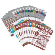 Large-Print Crossword Puzzles (pack of 12)