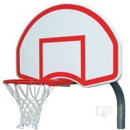 Gared® Steel Backboard, Goal and Bent Post, 3-1/2""