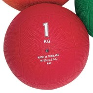 Rubber Medicine Ball, 2.2-lbs