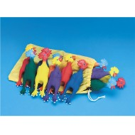 Spectrum™ Chirping Rubber Mini Chickens (set of 12)