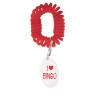"Coil Bracelet with ""I Love Bingo"" Keytag (pack of 12)"