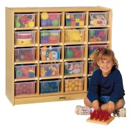 20-Tray Cubbie with Clear Trays