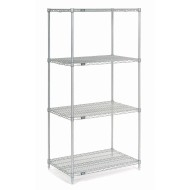 "Wire Shelving Unit, 74""H x 24""W"