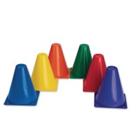 "6-Color Spectrum™ Cones, 6"" (set of 6)"