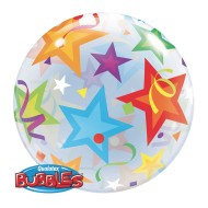Qualatex® Bubble Balloon: Brilliant Stars, 22""
