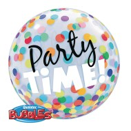 Qualatex® Bubble Balloon: Colorful Dots, 22""