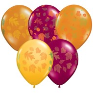 "Autumn Leaves 11"" Latex Balloon (bag of 50)"