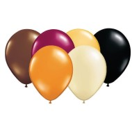 "12"" Autumn Latex Balloon Assortment (pack of 100)"