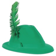 Plastic Velour Alpine Hat