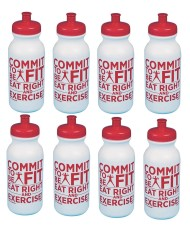 COMMIT TO BE FIT WATER BOTTLES PK 8
