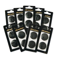 "1"" Black Button Crafters Pack (pack of 18)"