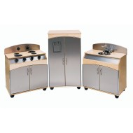 Three-Piece Contemporary Play Kitchen (set of 3)
