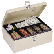 MMF Industries™ Steelmaster® Cash Box with Locking Latch