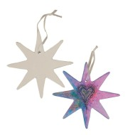 Color-Me™ Ceramic Bisque Star Shape (makes 24)