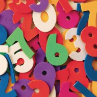 Color Splash!® Foam Shapes with Adhesive - Numbers (pack of 640)