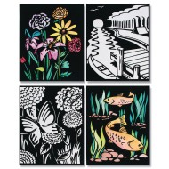 "Velvet Art Posters, 8""x10"" - Sea and Floral (pack of 12)"