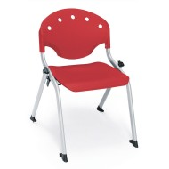 "14"" Rico Student Stack Chair, Red (pack of 4)"