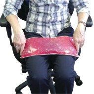 Weighted Gel Lap Pad, Red, 3lbs.