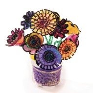 Velvet Art Roll-Up Flowers (pack of 96)