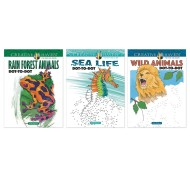 Creative Haven® Wildlife Dot-to-Dot Coloring Books (set of 3)