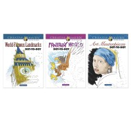 Creative Haven® Visions Dot-to-Dot Coloring Books (set of 3)