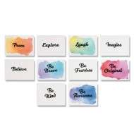 Watercolor Velvet Resist Art Prints (pack of 100)
