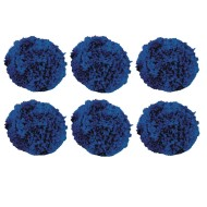 BLUE FLEECE BALLS 4IN SET 6