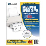 "4"" x 3"" Printer Name Badge Insert Sheets (pack of 10)"