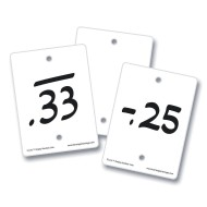 Empty Number Line Blank Cards (set of 50)