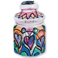 STAIN GLASS JAR CRAFT KIT PK 12