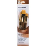 Golden Taklon Value Brushes (set of 4)