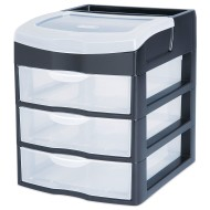 Sterilite® 3 Drawer Desk-Top Storage Unit