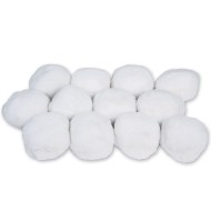White Puff Snow Balls (pack of 12)