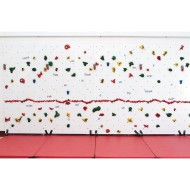 Discovery Dry Erase Climbing Wall Package, 8'H x 20'L with Locking Mats