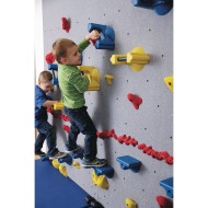 WeeKidz® Beginner Traverse Climbing Wall 20' x 6' with Locking Wall Mat