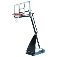 "Spalding® Hybrid® 54"" Glass Portable Basketball System"