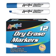 Chisel Tip Dry Erase Markers, Blue (pack of 12)