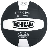 Tachikara® SV-18S Composite Volleyball, Black/White