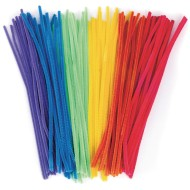 "Chenille Stems/Pipe Cleaners 12"" x 6mm - Neon Colors (pack of 100)"