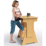 Whitney Brothers® Convertible Adjustable Height Desk