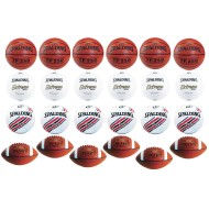 Spalding® 24 Ball 4-Sport Official Game Ball Easy Pack