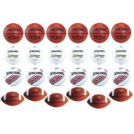 Spalding® 24 Ball 4-Sport Intermediate Game Ball Easy Pack