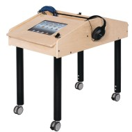 Two Station Double Sided Technology Table with Adjustable Legs