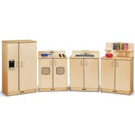 Jonti-Craft® Baltic Birch Culinary Creations 4-Piece Play Kitchen