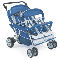 Angeles® 4-Passenger SureStop™ Folding Commercial Bye-Bye® Stroller