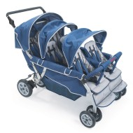 Angeles® 6-Passenger SureStop™ Folding Commercial Bye-Bye® Stroller