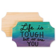 Unfinished Budget Plaques (pack of 12)