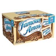 Famous Amos® Chocolate Chip Cookies Individual Bags Pack (pack of 36)