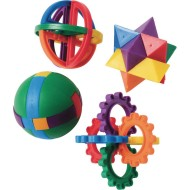 Colorful Plastic Puzzle Balls (pack of 12)
